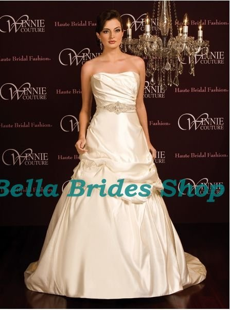 2011 Beautiful Best Price Strapless Printed Wedding Dress