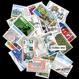 Germany 100 Pieces / lot All Different Used Rand Postage Stamps From With Post Mark In good Condition For Collecting