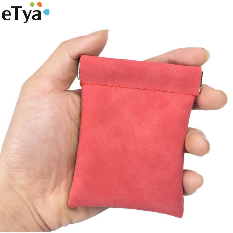 eTya Fashion 2019 Women Men Scrub Wallets With CoinBag Pu Leather Small Coin Purse Kid Money Key Coin Holder Bag Pouch