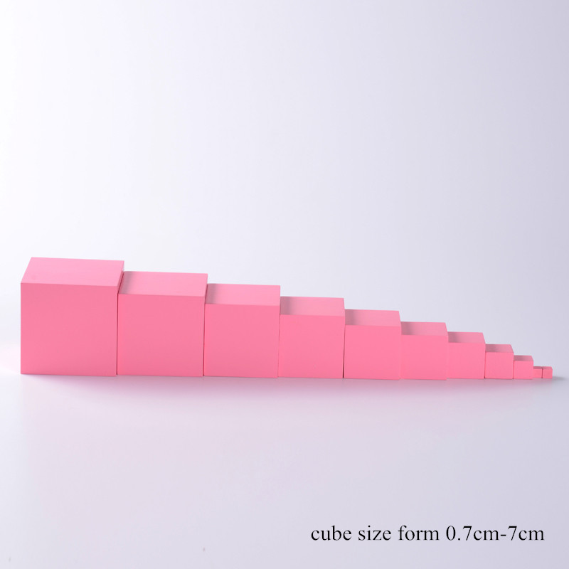 Montessori Family Version Pink Tower sin soporte 0.7 cm a 7 cm - Educación y entrenamiento - foto 6