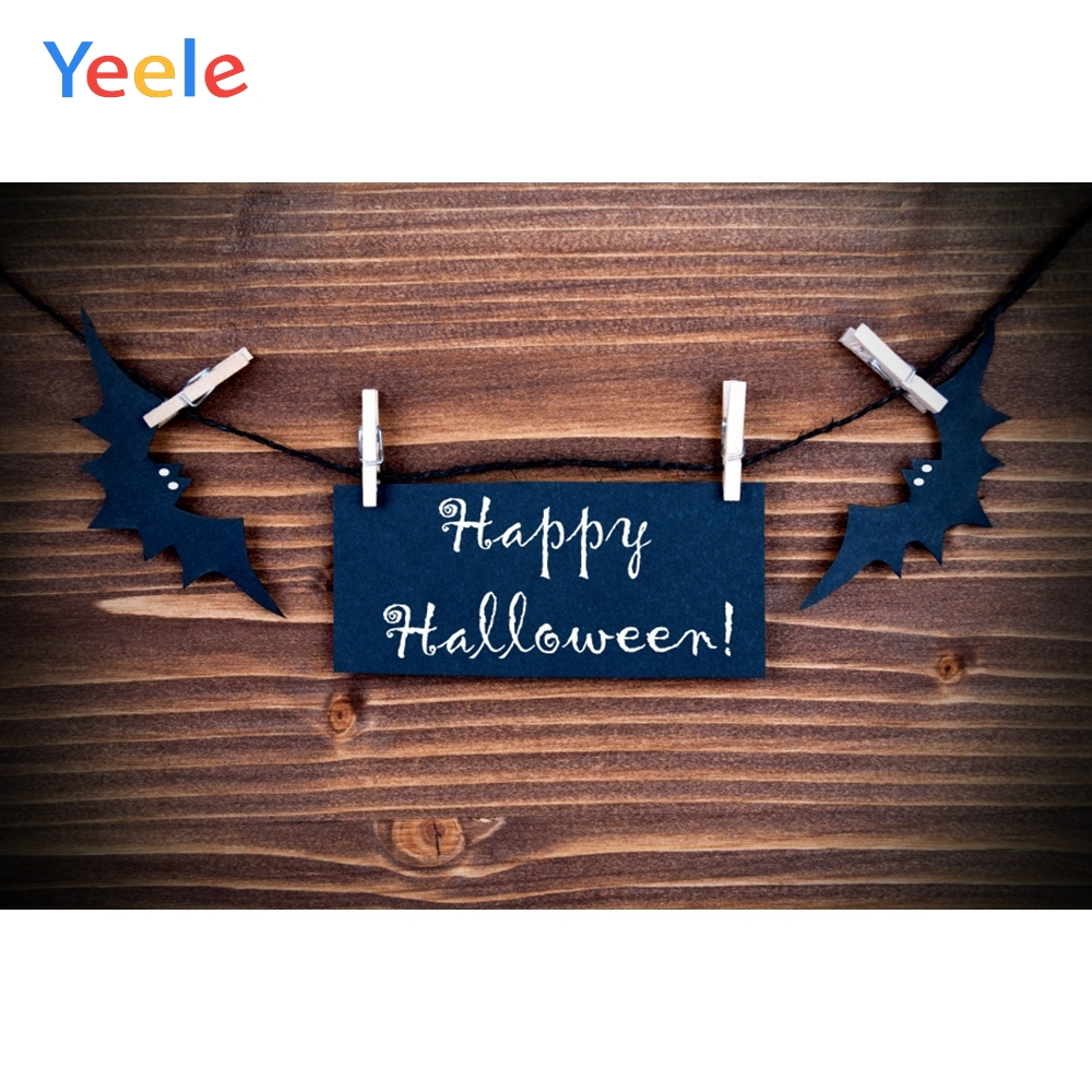 Yeele Halloween Party Photocall Retro Wood Bat Decor Photography Backdrop Personalized Photographic Backgrounds For Photo Studio