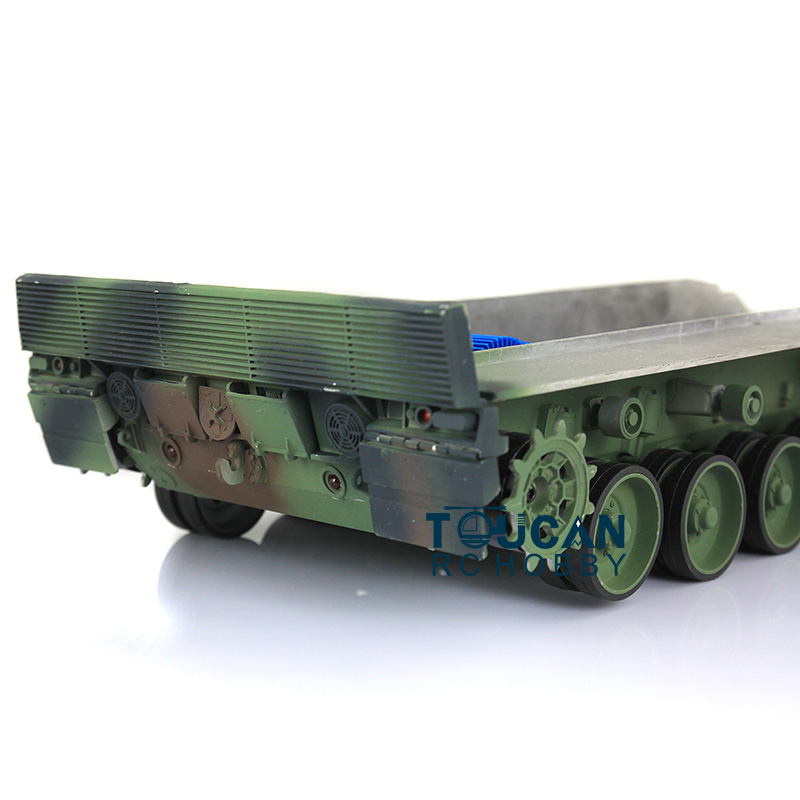 Leopard2A6 RC Tank Full Metal Chasis Assembly T1 Tracks Roadwheel GN Color 1/16 TH00964