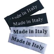 Сделано в Италии этикетки для одежды ручной работы zakka бирка ручной работы Тканые Этикетки на заказ Швейные бирки для ручной работы аксессуары