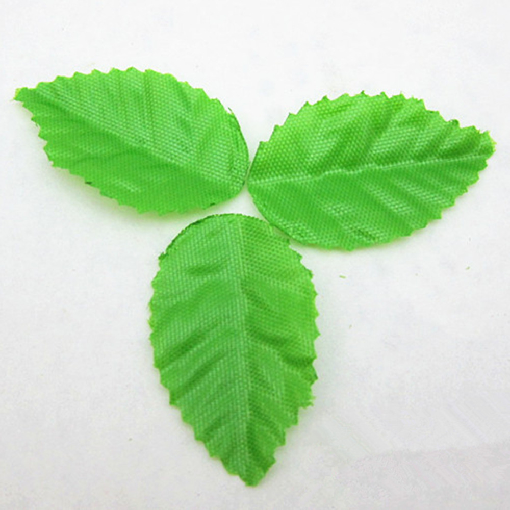 200pcs green tree leaf artificial flower leaves for for Artificial leaves for decoration