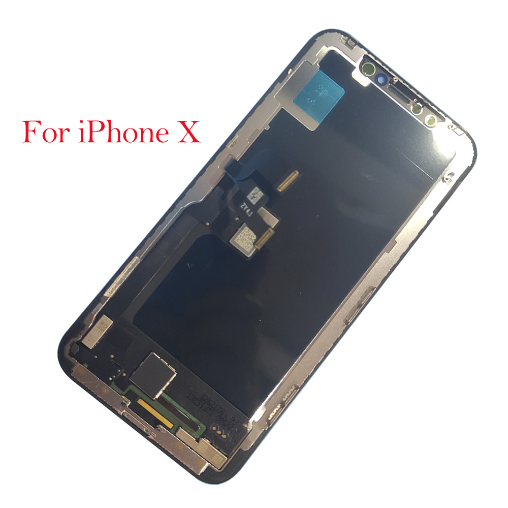Grade AAA Per iPhone X XS Display LCD Touch Screen Digitizer Assembly Per il iphone X XS Display LCD di Ricambio Temperato di vetroGrade AAA Per iPhone X XS Display LCD Touch Screen Digitizer Assembly Per il iphone X XS Display LCD di Ricambio Temperato di vetro
