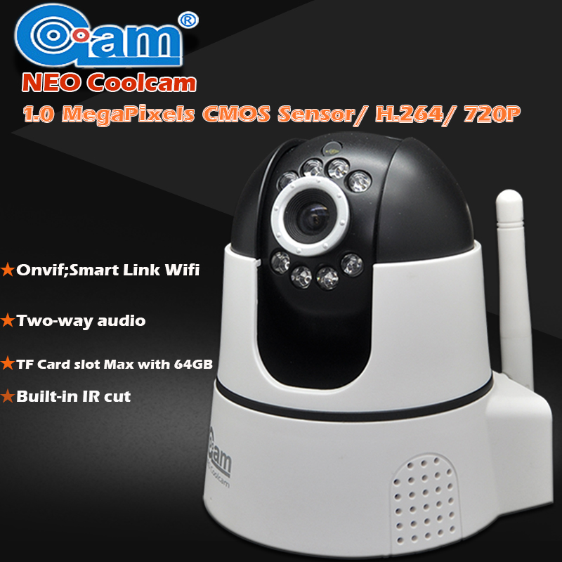 NEO COOLCAM 720P IP Camera Wireless Wifi CCTV Security Camera Indoor IR CUT Night Vision And Motion Detection Support 64GB Card eazzy bc 688 bulb cctv security dvr camera auto control light and recording motion dection night vision circular storage
