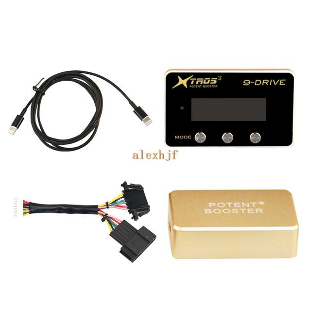 TROS Booster Potent octava 9-Drive Controlador Electrónico Del Acelerador para Jaguar tipo F 2013 +, XF 2010 +, XJ 2010 +, XK 2010 ~ 13 etc