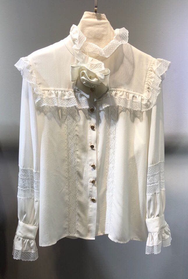 AL0115 женские модные блузки и рубашки для мальчиков 2019 взлетно посадочной полосы Роскошные европейский дизайн вечерние стиль