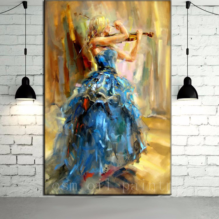 Wedding Decorative Abstract Hang Canvas Picture Hand -3897