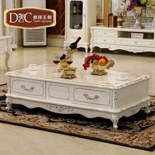 European-style living room coffee table fashion embossed vintage French furniture storage teasideend