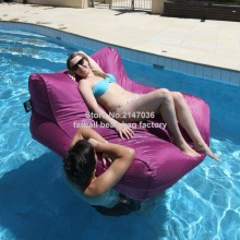 Purple outdoor bean bag water float furniture, 2 in 1 useExtra large size beanbag sofa seat -durable and color resistant chairs