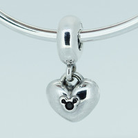 Fits for Pandora Charms Bracelets Mouse Icon Beads 100% 925 Sterling Silver Jewelry Free Shipping