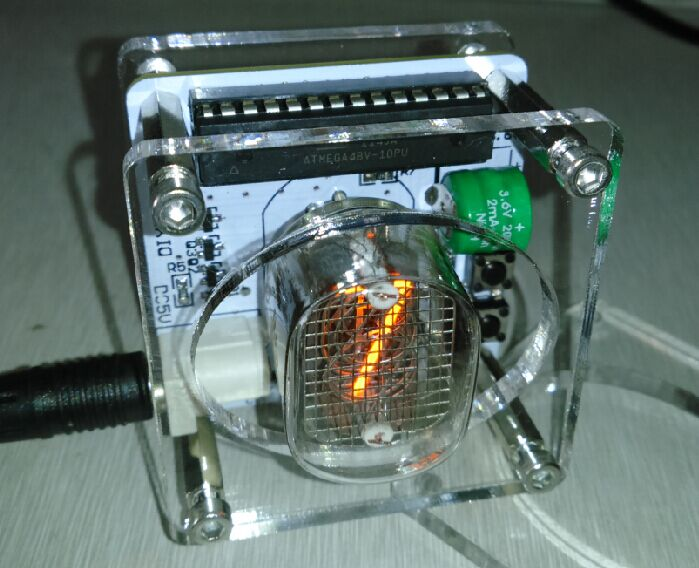 Acheter USB chiffre nixie horloge IN12 seul mot tube incandescent horloge de ABS Capteur fiable fournisseurs