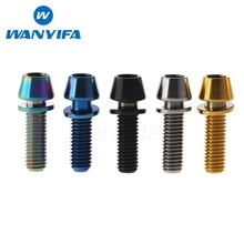 Wanyifa Titanium Ti M5x16mm M5x18mm M5x20mm for Bicycle Stem Allen Hex Tapered Head Bolt with Washer
