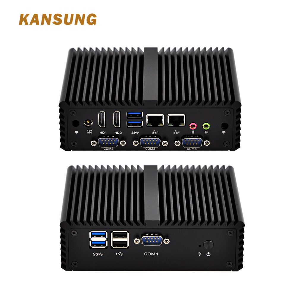 Fanless Mini Pc 2 Lan Core I7 Industrial With Core I7-4500U,X86 K4500UP4 Desktop Computer Apply To POS Systerm