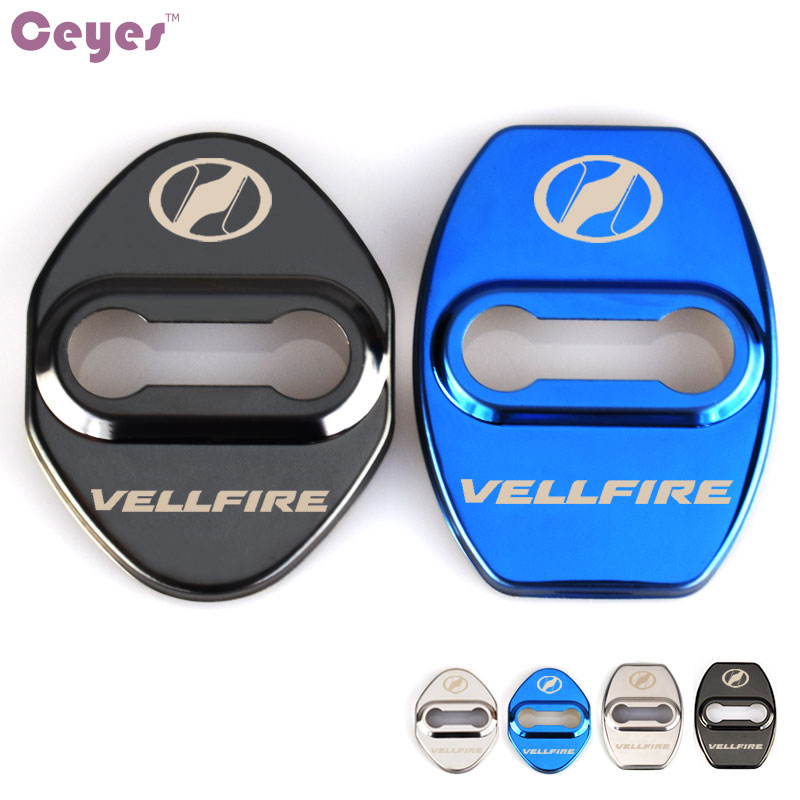 Ceyes Excellent Auto Emblem Car Styling Case For Toyota Corolla 2008 Alphard Vellfire Car Door Lock Protection Cover Car-Styling
