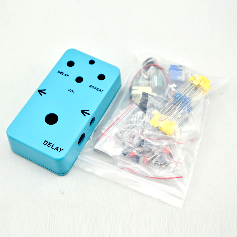 Handmade  Delay  Effect Pedal kit true bypass for bass guitar stompbox with 1590B Blue enclosure  High Quality Pedal юбка платье kate spade