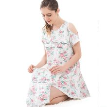 summer Maternity Dress Pregnant Short Sleeve Dress Parent-child outfit nursing top breastfeeding clothesCasual nightwear Clothes(China)