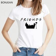 New summer style friends tshirt women clothes 2019 best t shirt femme harajuku tumblr female t-shirt tops tee