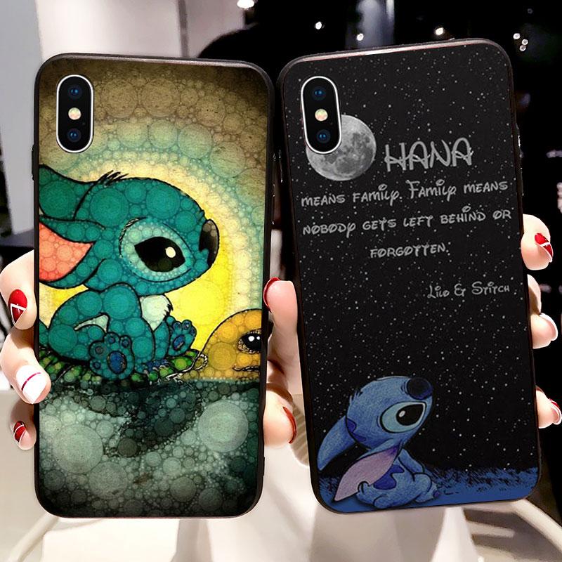 Lilo Stitch Ohana Cartoon Funny Soft Silicone Phone Case For Huawei P Smart P10 P20 Lite Pro Cover Fundas Coque