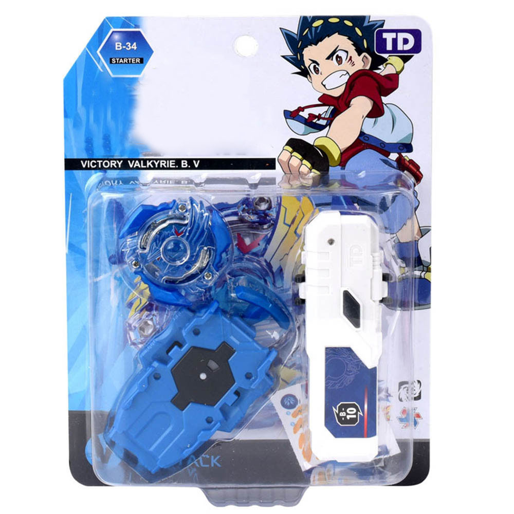 Single Beybleyd Burst Bey Blade Toys with Grip Launcher and Handle Gyro Combat Gyroscope Alloy Assembly Toy TD1009A55