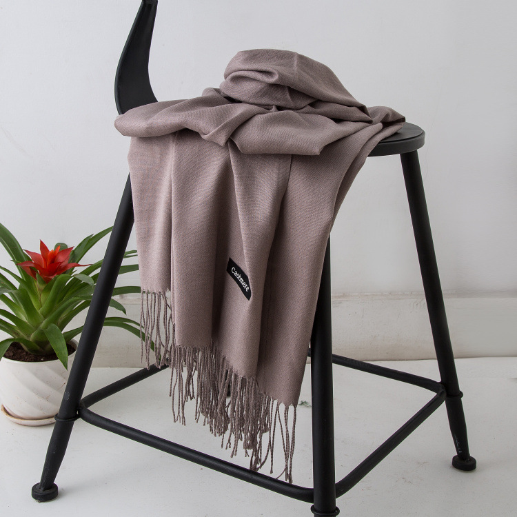 HTB1cKC4XjvuK1Rjy0Faq6x2aVXaW - Women solid color cashmere scarves with tassel lady winter autumn long scarf high quality female shawl hot sale men scarf