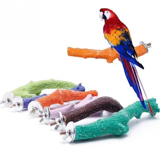 Parrot Wooden Stand Parrot station rack Pet Bird Hanging Cage Perch Platform Bird Holder parrot bites