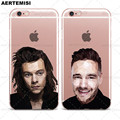 Cajas del teléfono de One Direction 1D Harry Styles Payne Liam Niall Louis Tomlinson horan claro tpu para iphone 5 5s se 6 6 s 7 Plus