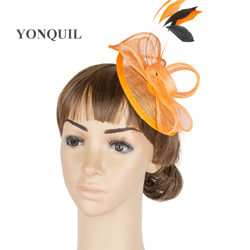 sinamay base fascinator headwear event bridal veils hair accessories millinery cocktail hats High quality multiple color MYQ004