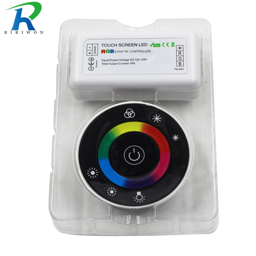 RF Remote controller LED Touch Round RGB Controller DC12V-DC24V RF Remote controller for 5050 3528 2835 3014 LED strip lights 2016 new dc12v dc24v led touch round rgb controller 18a 7 keys rf remote controller for 5050 3528 2835 led strip lights
