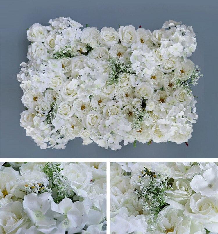Artificielle soie Rose hortensia fleur mur mariage fond pelouse/pilier fleur route plomb tapis décoration blanc Rose couleur