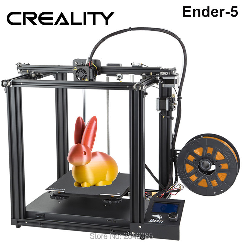 CREALITY 3D Printer Ender-5 Dual Y-axis Motors Magnetic Build Plate Power off Resume Printing Enclosed Structure(China)