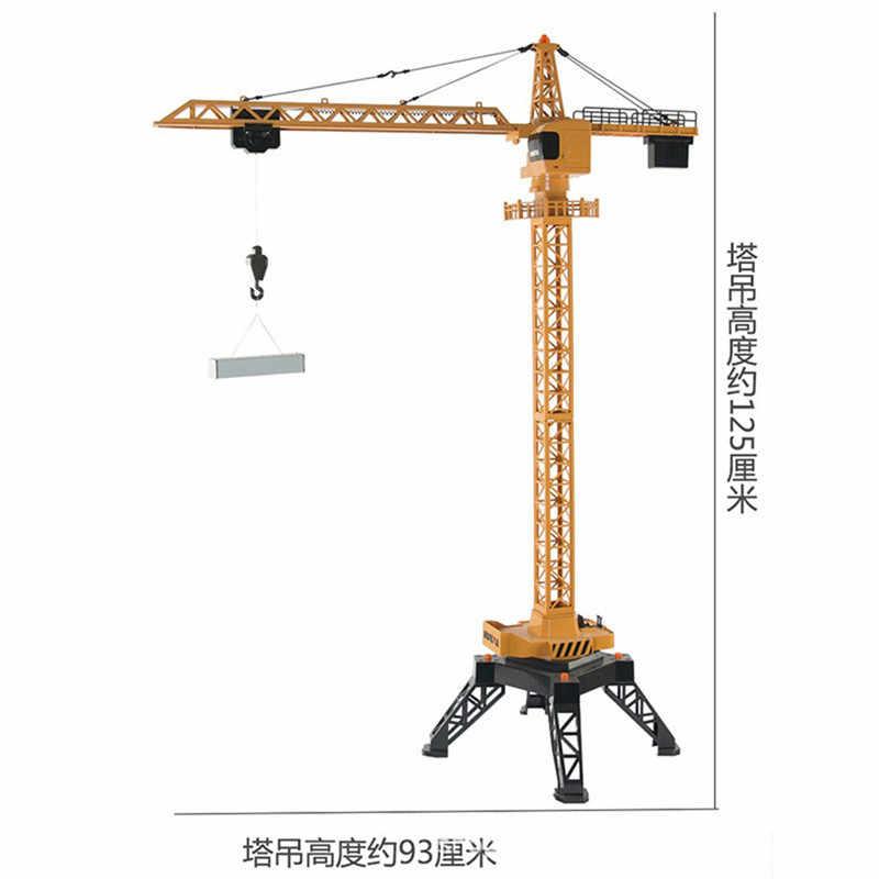Huina Mainan 1585 1/14 2.4G 4CH 7.2 V 400 MAh Paduan RC Crane Tower Kendaraan Rekayasa Model Mobil Remote kontrol Mobil untuk Anak-anak Hadiah
