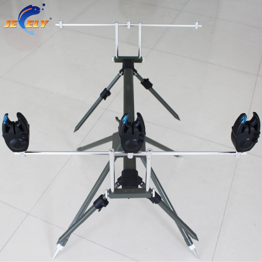 Free Shipping JY142-1-3 Adjustable 3 Rod and Bite Alarm Alumimum Carp Fishing Rod Pod отсутствует м хобби 3 142 2013