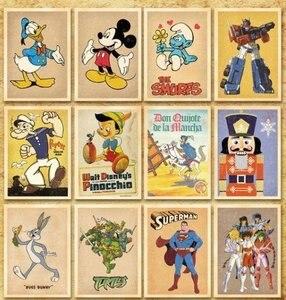 Image 3 - 7packs/lot visitenkarten Freies verschiffen! DIY alten speicher cartoon comic post karte set 32 blatt karten pro set gruß karte