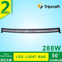 50 Inch 288W Curved Offroad LED Light Cree Work Working Light Ramp For Suv Truck Tractor
