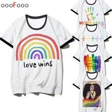 Lgbt Gay Love Lesbian Rainbow Love is Love t shirt men male/women tshirt t-shirt