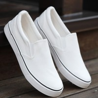 Men Flats Shoes Casual Summer Espadrilles Slip On Canvas Shoes Men Loafers Boat Shoes Breathable White Men Shoes 6h85