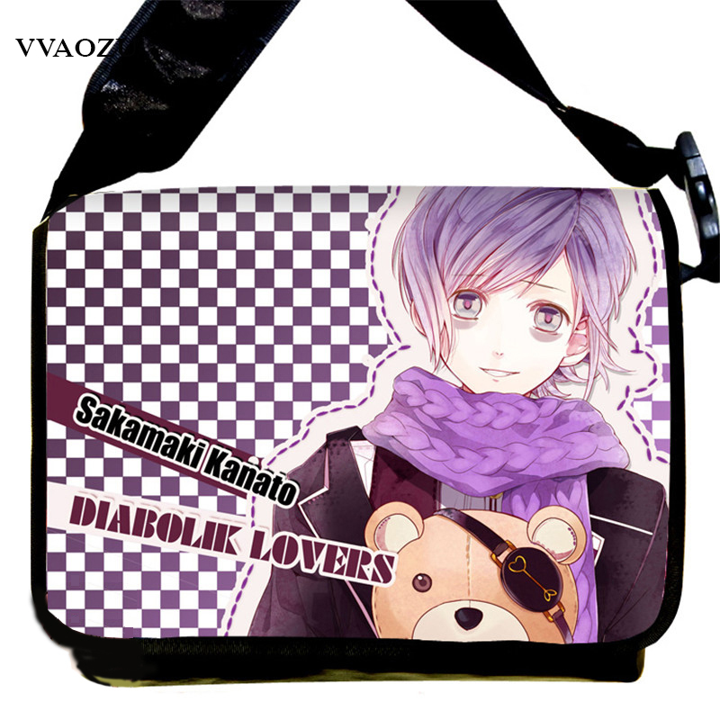 Heiße japanische Anime DIABOLIK LIEBHABER Canvas Messenger Bags Sakamaki Ayato Cosplay Satchel Shoulder Bag