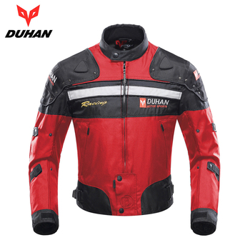 DUHAN Motorcycle Jacket Motorbike Racing Jacket Moto Windproof Autumn Winter Motorcycle Protection Clothing Body Protector Armor duhan summer motorcycle jacket men breathable mesh riding moto jacket motorcycle body armor protector moto cross clothing
