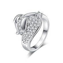 New Luxury Women Jwelry CZ Stone Finger Ring Engagement Ring Prayer Jewelry For Wedding Accessories