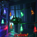 AC220V 5M 28 LED Small Bell string fairy lights christmas tree decorations for home outdoor wedding Garland decoration navidad