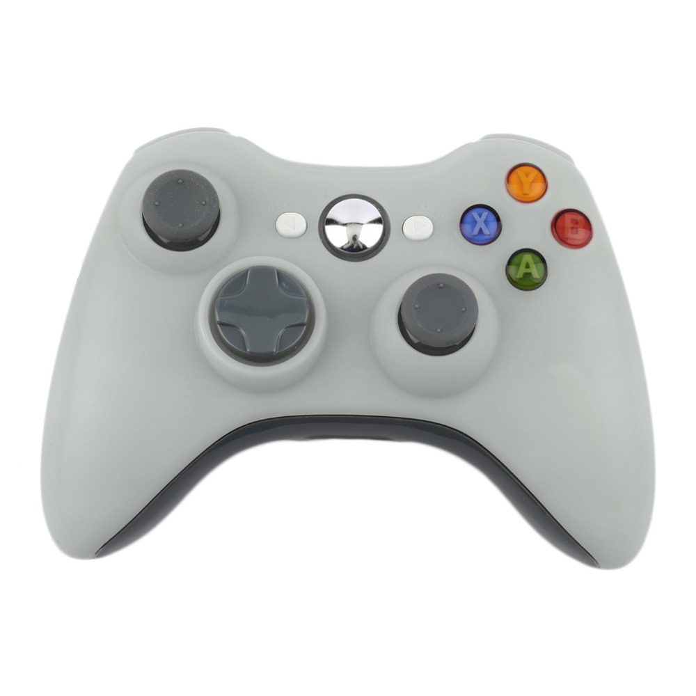 hot 2.4G Wireless Gamepad Joypad Game Remote Controller Joystick With Pc Reciever For Microsoft For Xbox 360 Console aluminum metal analog thumbstick mushroom 3d joystick cap cover shell for microsoft xbox 360 xbox360 controller