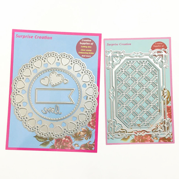 Überraschung Creation 2-Set Kombination stirbt Rahmen herzen & Album rahmen Cardmaking & Scrapbooking