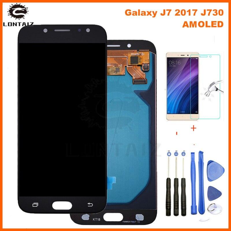 5.5 ''AMOLED affichage pour SAMSUNG Galaxy J7 Pro J730 LCD pour SAMSUNG J7 2017 écran tactile numériseur J730F