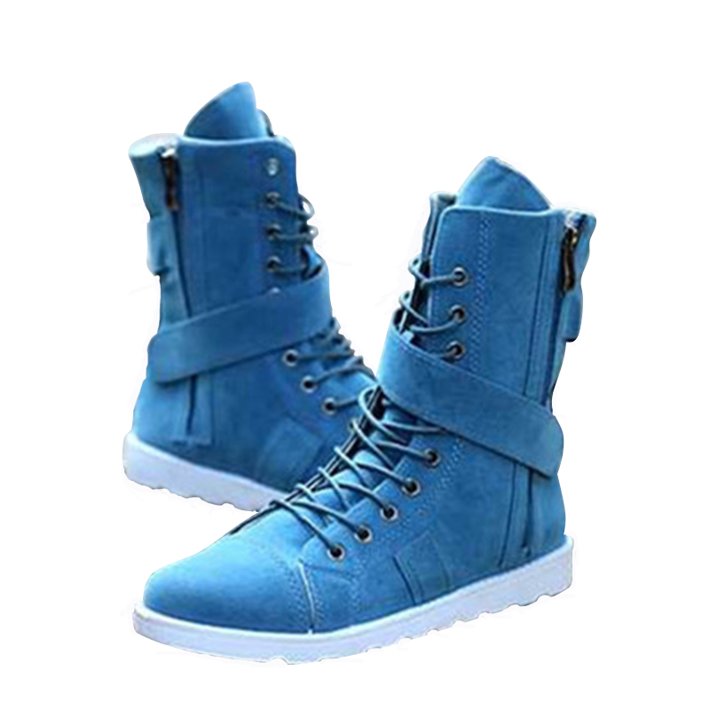 2018 Autumn And Winter New Style Martin Military mens Boots Fashion High-top Thigh High Boots Korean Mens shoes NO.76