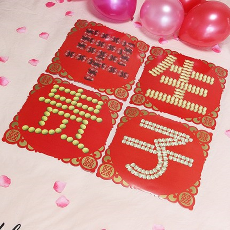 Chinese traditional wedding paper double happiness best wishes words chinese traditional wedding paper double happiness best wishes words zaoshengguizi wall stickers bed room decoration supplies in party diy decorations from m4hsunfo