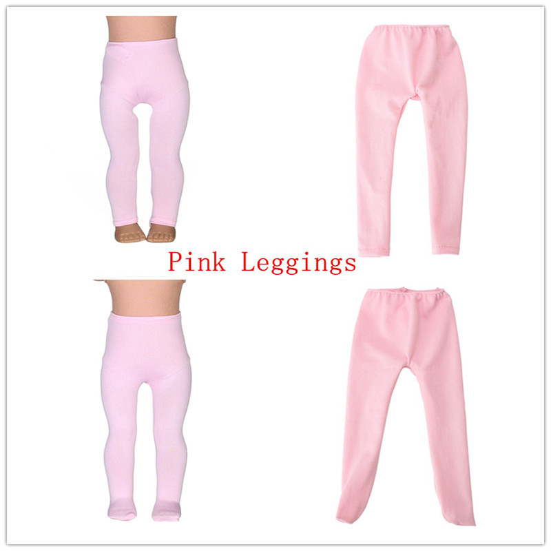 2 Kinds Pink Leggings Tight Pants Fit 18 Inches American  Doll Baby Doll Clothes Accessories Handmade Fashion Pants Clothes