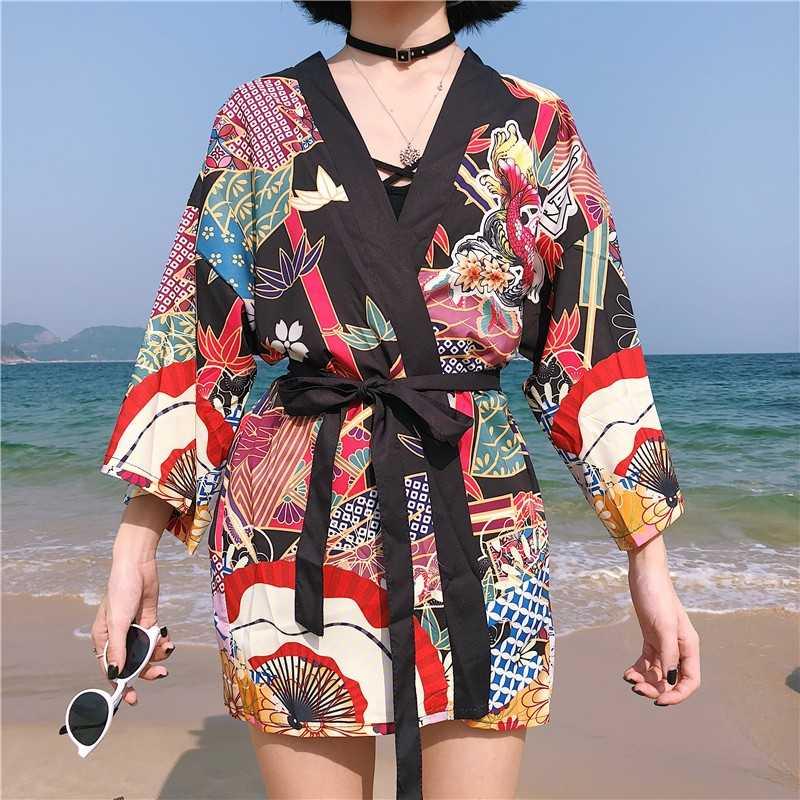 着物女性 2019 浴衣女性日本衣装ストリート芸者女性の着物コスプレ原宿服羽織帯 AA020