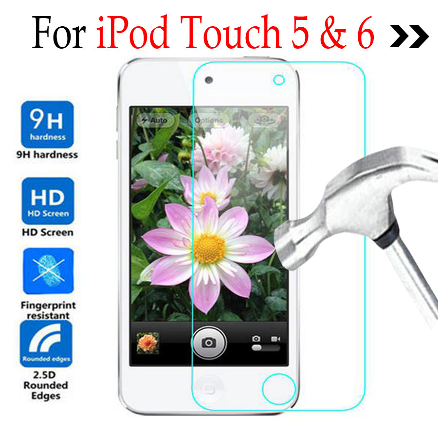 Tempered Glass For Apple iPod Touch 5 6 Glass Phone Screen Protector Cover Protective Film For iPod Touch 5 6 With Cleaning Tool(China)